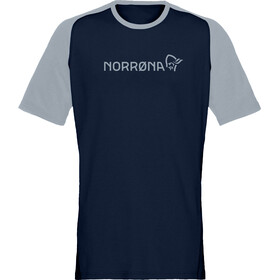 Norrøna Fjørå Equaliser Lightweight T-Shirt Men, indigo night/drizzle
